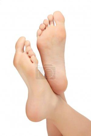 Healthy female feet