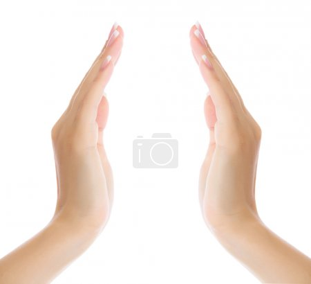 Photo for Female hands on white background - Royalty Free Image