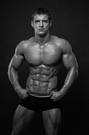 Muscled male model