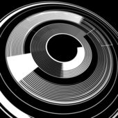 Lines in spiral rotation Abstract background Vector art