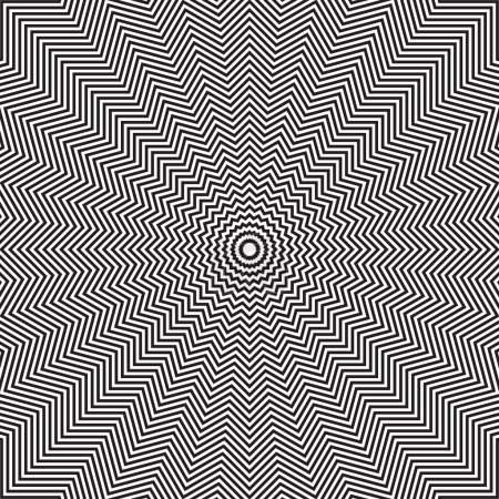 Illustration pour Illusion optique de mouvement de rotation. Résumé op art background. Art vectoriel . - image libre de droit