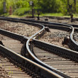 Rails and switches of a railroad line...