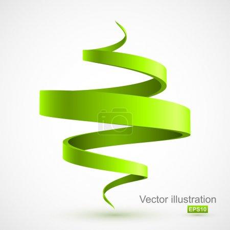 Illustration for Green spiral 3D. Vector illustration - Royalty Free Image