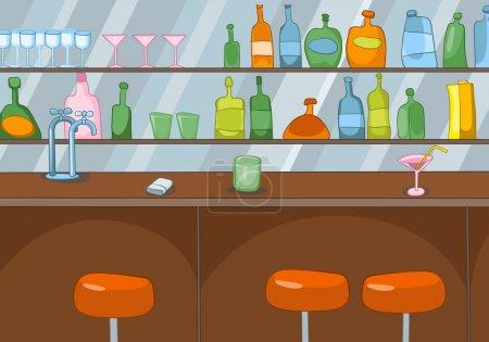 Illustration pour Bar au Club. Dessin animé Contexte. Illustration vectorielle SPE 10 . - image libre de droit