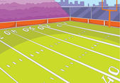 American Football Stadium Cartoon Background Vector Illustration EPS 10