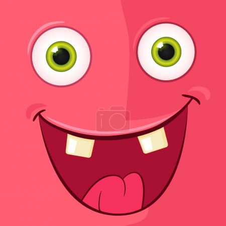 Illustration for Cartoon Character Funny Monster. Vector EPS 10. Avatar. - Royalty Free Image