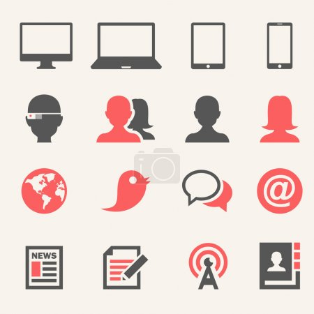 Photo for Web and Soft Icon set. Vector EPS10. - Royalty Free Image