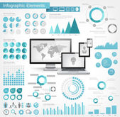 IT Industry Infographic Elements Opportunity to Highlight any Country Vector Illustration EPS 10