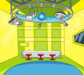 Television Studio Vector Cartoon Background