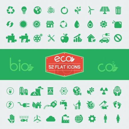 Photo for Ecology Flat Icon Set. Vector Illustration EPS 10. - Royalty Free Image