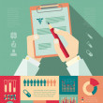 Flat Medical Infographics Elements plus Icon Set. ...