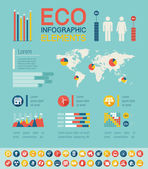 Ekologie infographic šablony