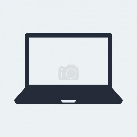 Illustration pour Ordinateur portable Flat Icon avec ombre. EPS vectoriel 10 . - image libre de droit