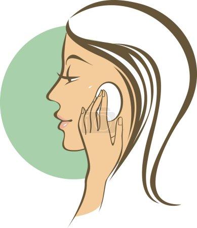 Illustration for Female skincare - Royalty Free Image