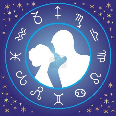 Illustration for Zodiac love - Royalty Free Image