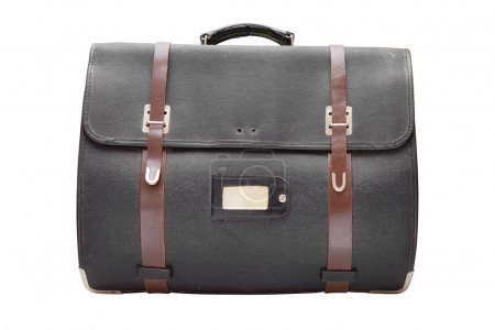 retro leather satchel bag,isolated on white