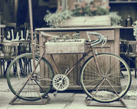 Vintage stylized photo of old bicycle