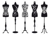 Fashion mannequins vector set