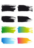 Paint brush stroke frames set of vector design elements