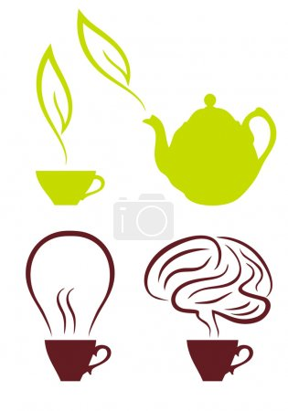 Coffee and tea, vector set