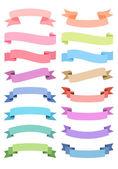 various ribbon set vector