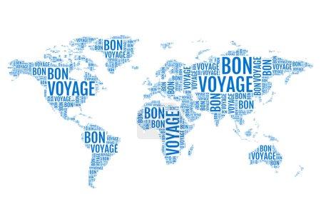 Typographic world map, vector