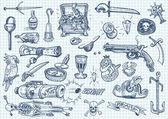 Pirates doodle set 2