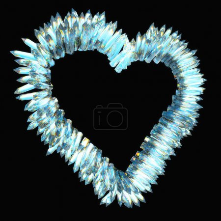 Jealousy and sharp love: crystal heart shape