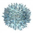 Crystal sphere with acute columns isolatred on whi...
