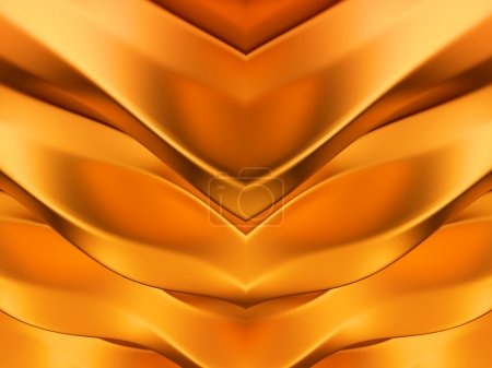 Golden abstract symmetric waves pattern