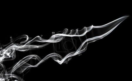 Abstraction: white smoke swirls pattern