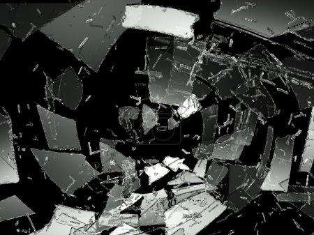 Destructed or Shattered glass