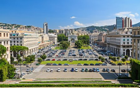 Genova - Piazza della Vittoria overview
