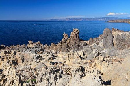 granite cliff in Carloforte island