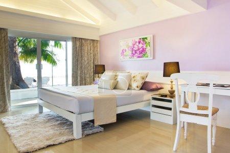 Ocean view of nice cozy bedroom