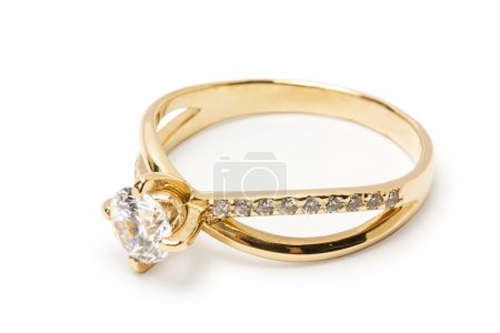 Ring with brilliant
