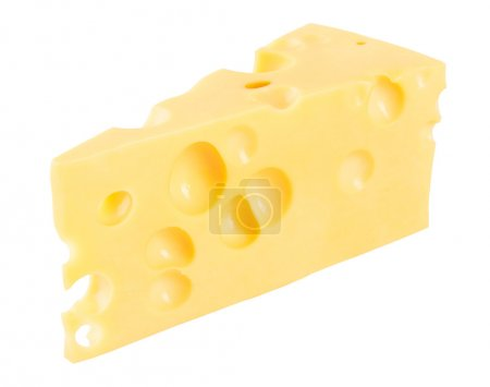 Photo for Piece of cheese isolated on a white background - Royalty Free Image