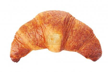 Photo for Fresh croissant isolated on white background - Royalty Free Image