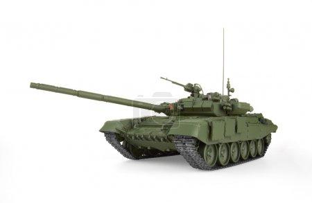 Photo pour T-90 char de combat principal, isolé sur fond blanc. Modèle . - image libre de droit
