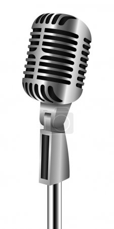 Retro Microphone On Stand
