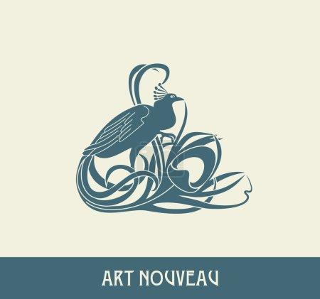 Design element in art nouveau style
