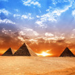 Egypt pyramid. Historic buildings. Panorama....
