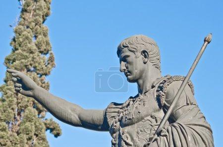 Caesar Augustus statue at Zaragoza, Spain