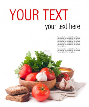 vegetarian food isolated template
