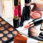 Professional makeup set: eyeshadow palette, lipsti...