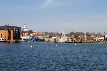 Skyline of the city of Annapolis, Maryland as seen...