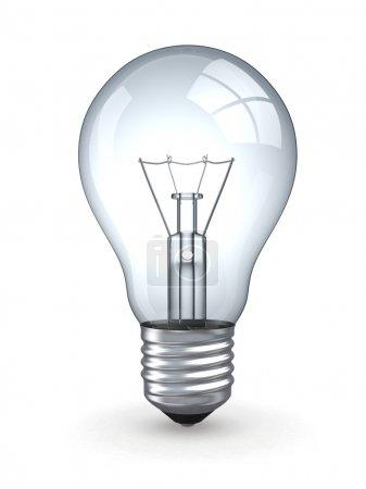 Photo pour Ampoule sur fond blanc isolé - image libre de droit