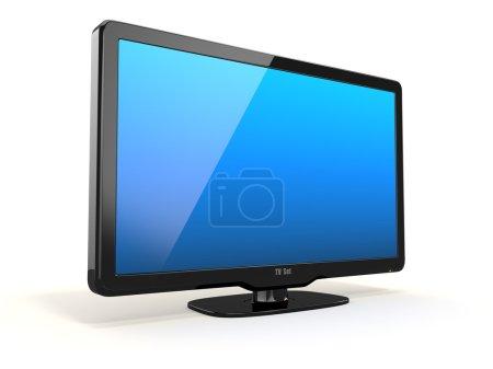 Photo pour Télévision haute définition sur fond blanc. 3d - image libre de droit