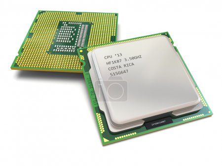 Photo for CPU. Computer's processors on white isolated background .3d - Royalty Free Image