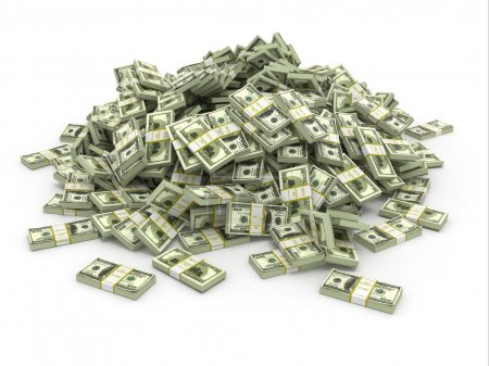 Photo for Dollars. Pile from packs of money. 3d - Royalty Free Image